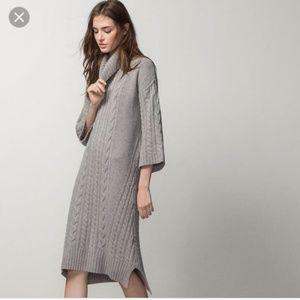 MASSIMO Dutti Italian yarn sweater dress